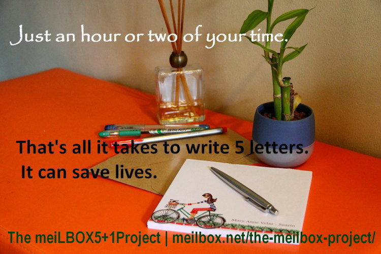 Bring a smile to your friends' faces and help mitigate climate change. Send them handwritten letters and plant a tree. Join The meiLBOX5+1Project! (Photo taken by Mary Anne Velas-Suarin)