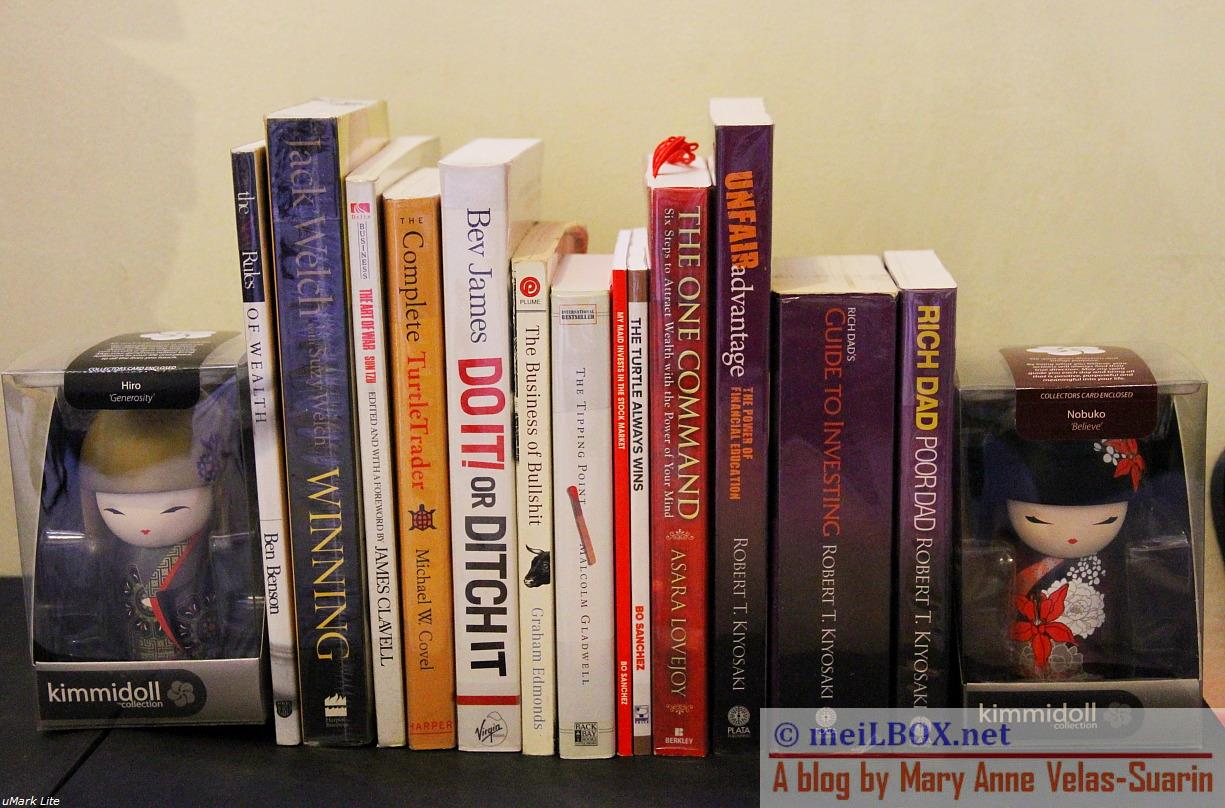 Some of our business books.
