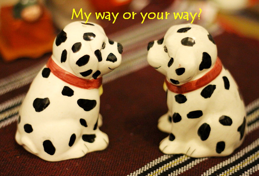 My way or your way? (Photo taken by Mary Anne Velas-Suarin, with due permission from the 2 'spotted' models.)