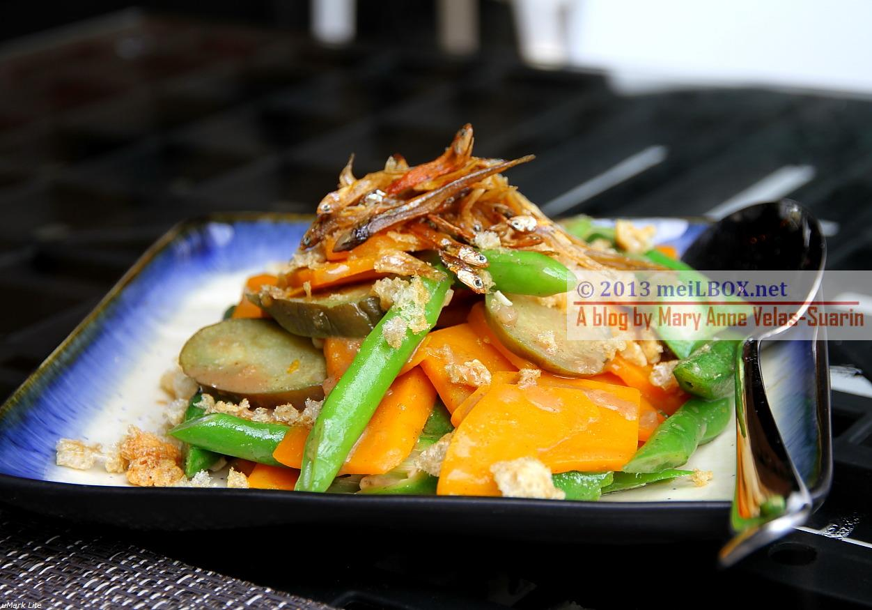 The 'pinakbet with a twist' at Tiagos. (Photo taken by Mary Anne Velas-Suarin)