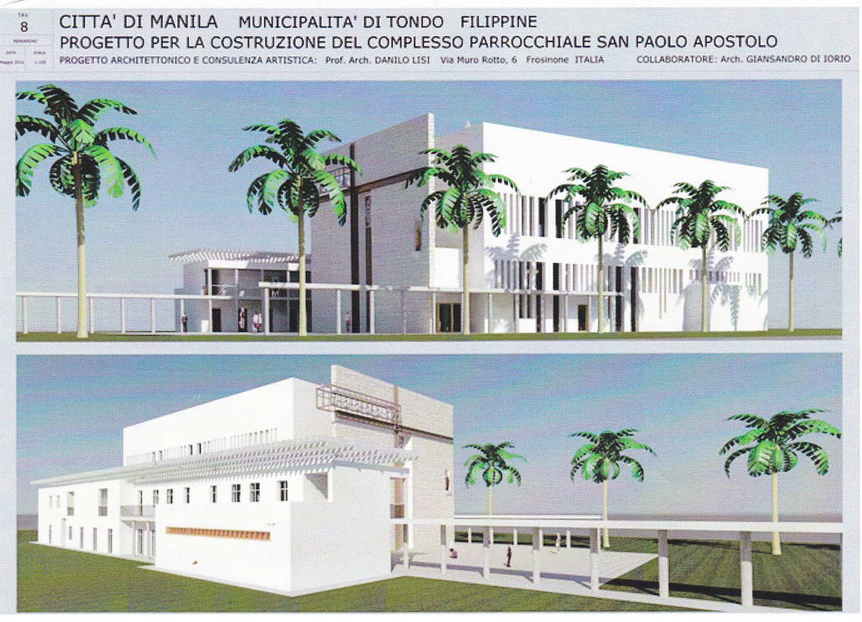 The proposed San Pablo Apostol Parish Church in Tondo. Illustration courtesy of the design and architectural team led by Architects Danilo Lisi and Giansandro di Iorio.