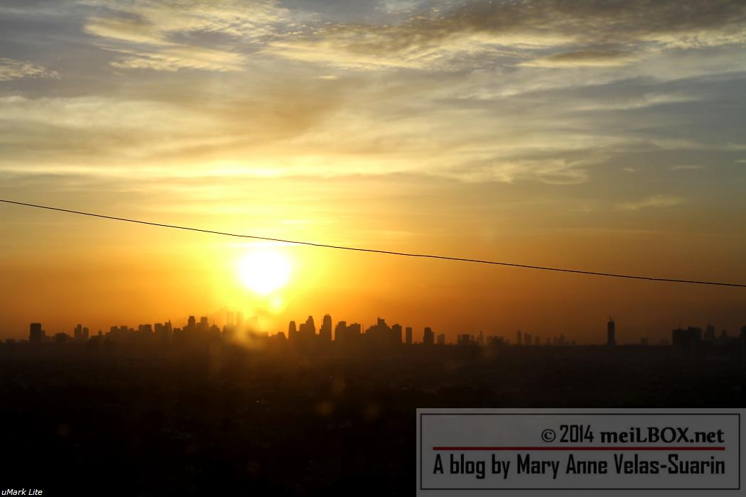 From Cristina Villas, one can have a nice view of Metro Manila on a good day. [Photo by Mary Anne Velas-Suarin]