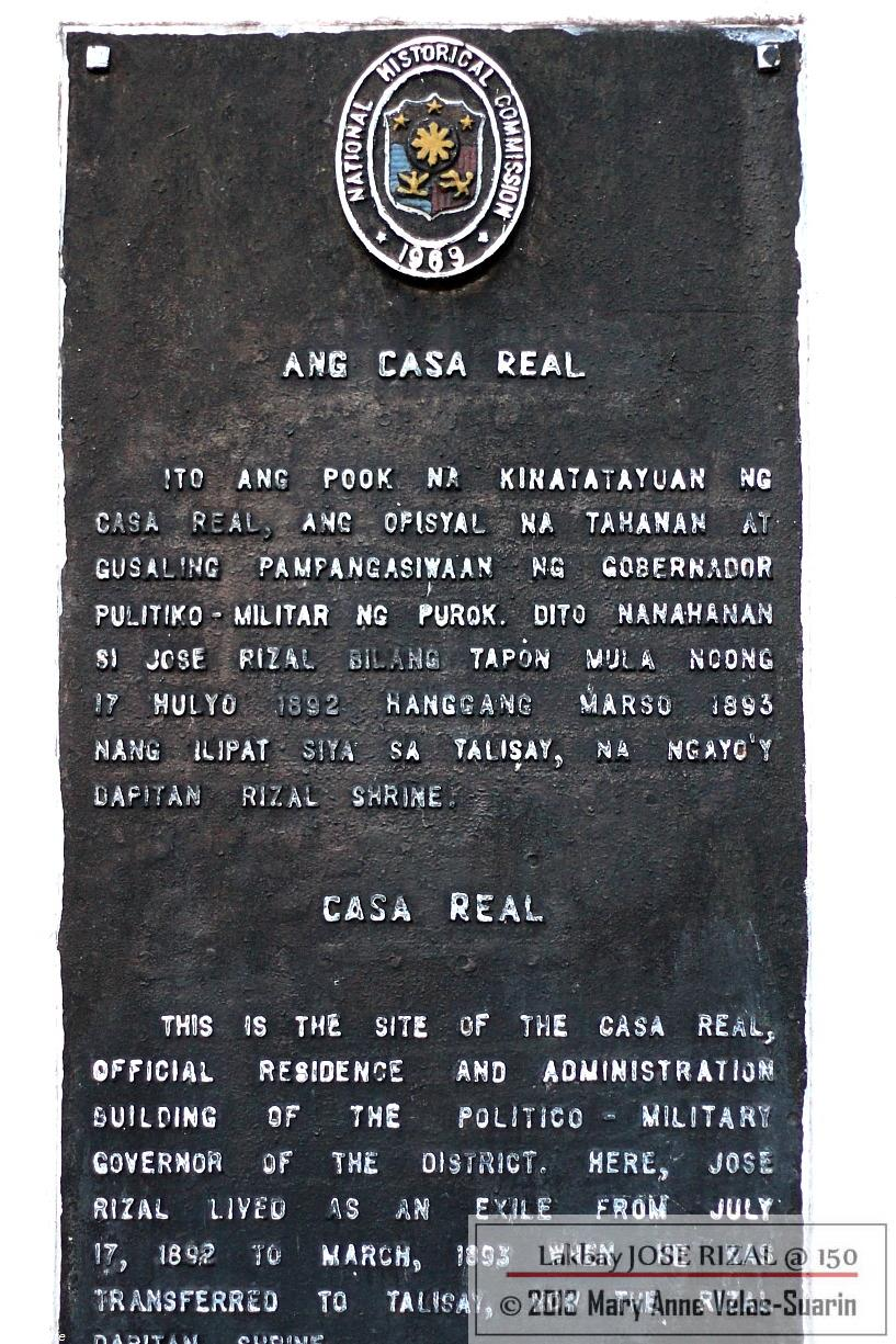 Marker to the Casa Real Site. [Photo by Mary Anne Velas-Suarin]