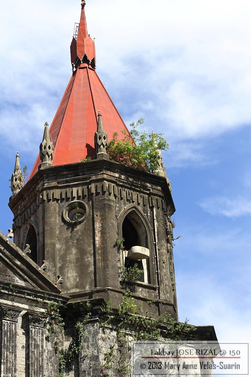 The belfry of Molo Church, Iloilo City. [Photo by Mary Anne Velas-Suarin]