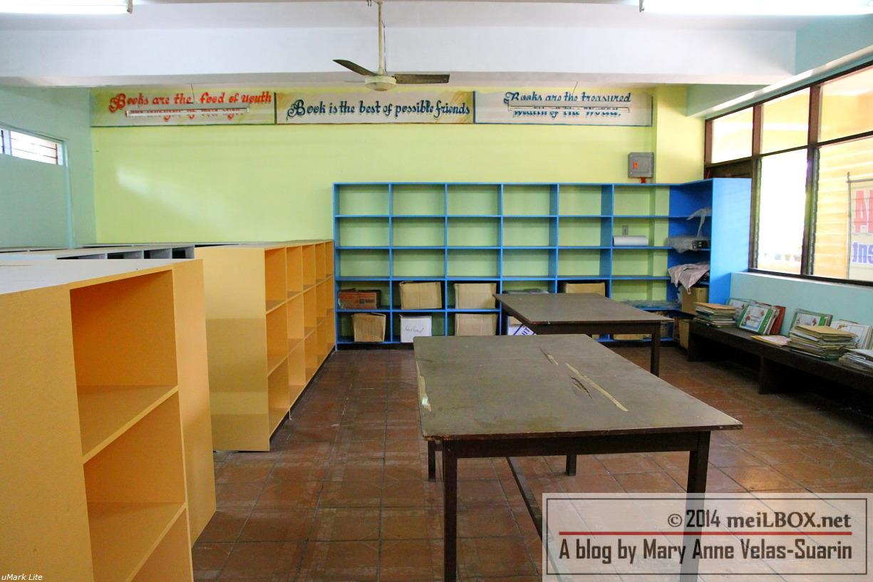 The possible reading area of the eLibrary. Imagine happy schoolchildren reading and learning together here! [Photo by Mary Anne Velas-Suarin]