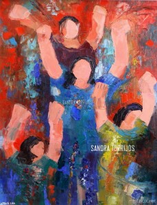 Sayaw, an oil painting by Sandra Torrijos.