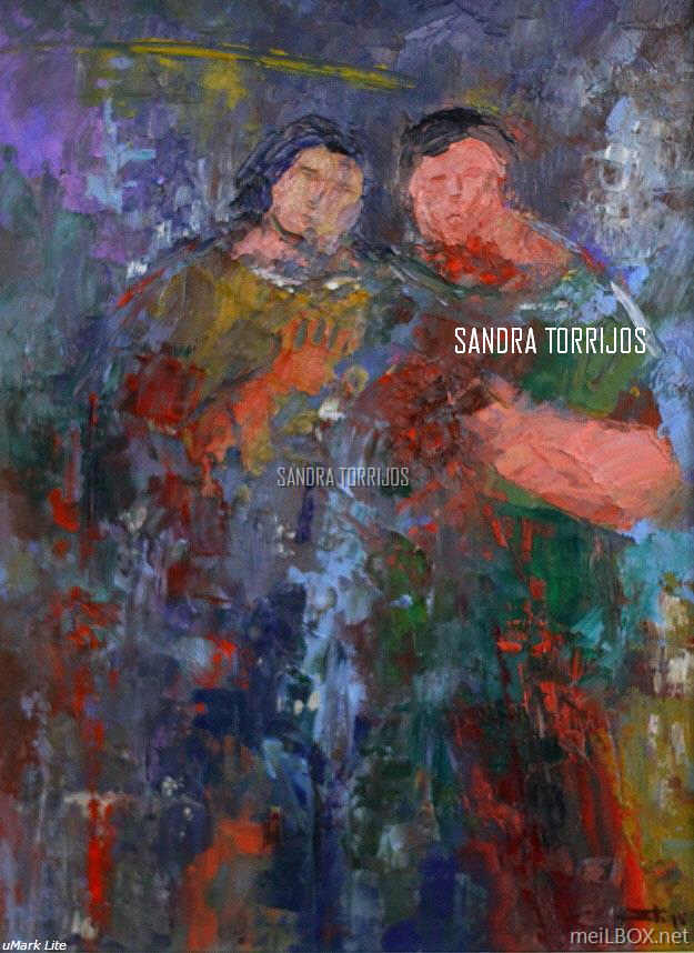 Soul Friends, an oil painting by Sandra Torrijos.