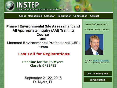 Environmental Site Assessment and AAI Training Course (Sep. 21-22, Florida)