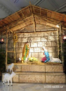 The Nativity Scene at the Parish of Hearts of Jesus & Mary [Image by M. Velas-Suarin]