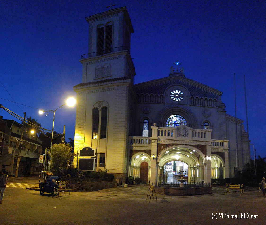 Immaculate Conception Cathedral of Cubao, at dawn. [Image by JR Suarin]