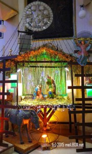 The Nativity Scene at the Most Holy Redeemer Parish-St Philomena Shrine [Image by M. Velas-Suarin]