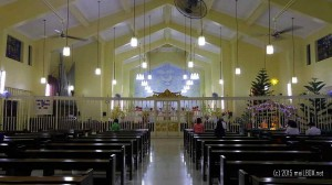 The altar at the Pink Sisters Convent in New Manila [Image by M. Velas-Suarin]