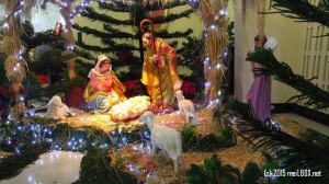 The Nativity Scene at the Pink Sisters Convent in New Manila [Image by M. Velas-Suarin]
