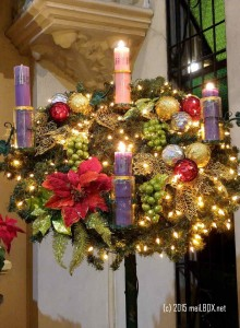 The Advent Wreath in Sacred Heart of Jesus Parish in Quezon City [Image by M. Velas-Suarin]