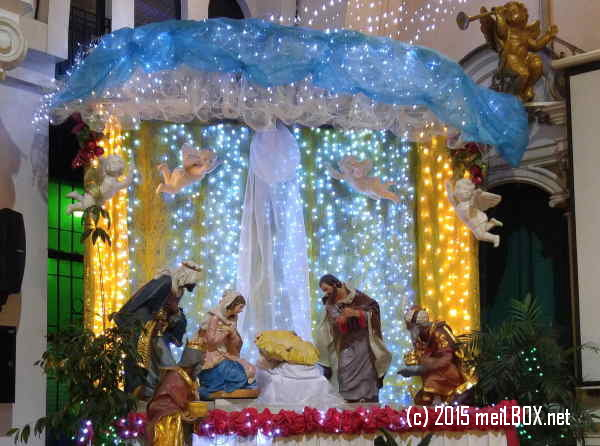 Christmas reminds us of the most powerful LOVE that we will ever experience. [Nativity scene at Sacred Heart of Jesus Parish in Quezon City. Image by M. Velas-Suarin]