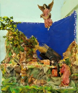 The Nativity Scene at the Saint Jude Thaddeus Quasi Parish [Image by M. Velas-Suarin]