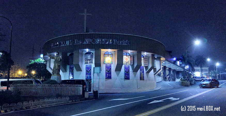 Saint Paul the Apostle Parish, at dawn. [Image by JR Suarin]