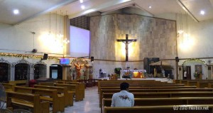The altar of the Saint Paul the Apostle Parish (after today's Simbang Gabi). [Image by M. Velas-Suarin]
