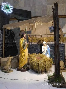 The Nativity Scene at the Saint Paul the Apostle Parish [Image by M. Velas-Suarin]