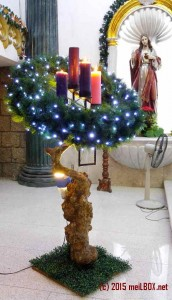 The Advent Wreath in Santa Rita de Cascia Parish [Image by JR Suarin]
