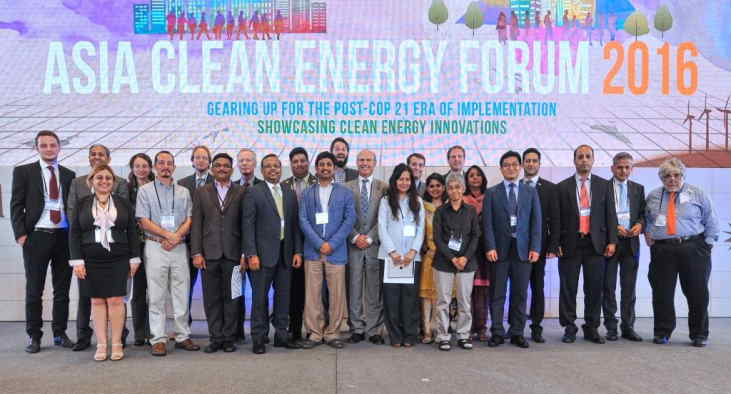 Speakers for the Knowledge Networking event at the Asia Clean Energy Forum 2016 [Image courtesy of ACEF 2016 Organizers]