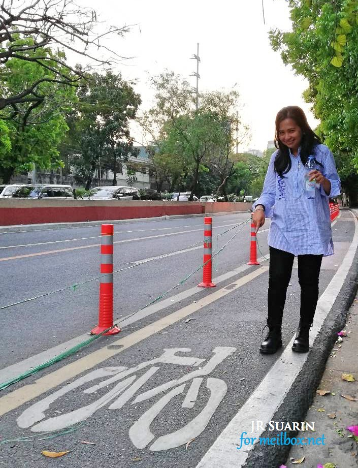 Finally, protected bike lane at Julia Vargas in Pasig City [Image by JR Suarin]
